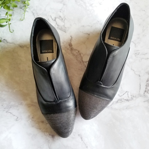 Dolce Vita Shoes - Dolce Vita | Ollie Cap Toe Leather Slip On Oxfords